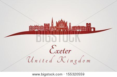 Exeter Skyline In Red