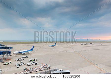 Chubu Centrair International Airport In Japan.