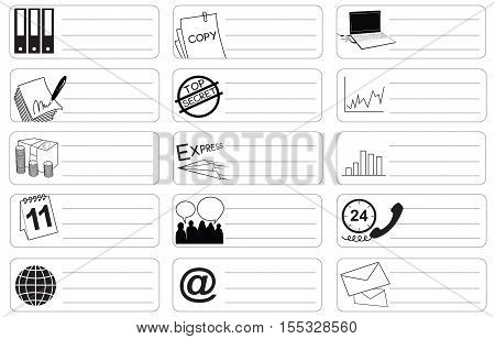 Transport Icon symbol business indrustry sticker item print for short note art line black and white color and clipping paths.