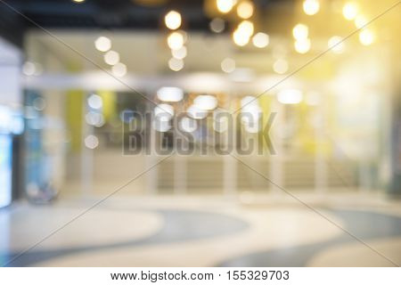 Abstract Blurred Background Of Shopping Mall.walking At Shopping Mall.blurred Background.