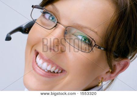 Smiling Happy Receptionist