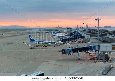 Ana Aircraft In Chubu Centrair International Airport Japan