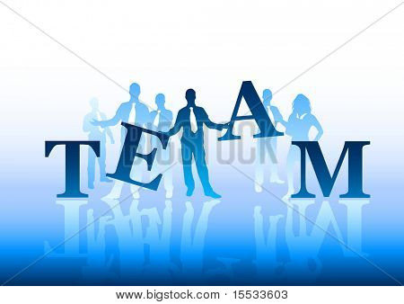 Concept of a business team