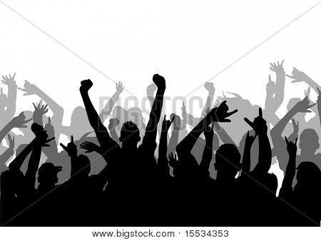 A vector silhouette of an Audience