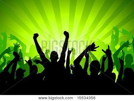 Silhouette der Audienz bei einem Konzert