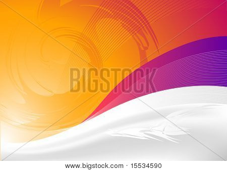 Flowing background design.