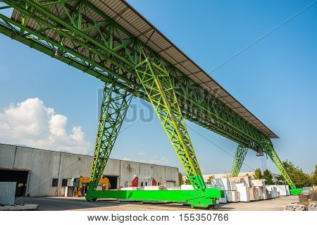 Gantry Crane At Work