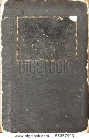 background dirty old book with space for text (vintage antiquity retro)