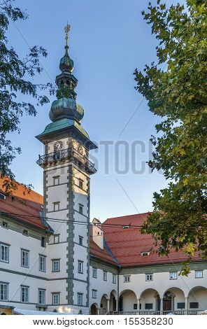 The Landhaus Klagenfurt is an important historical building in Klagenfurt Carinthia Austria