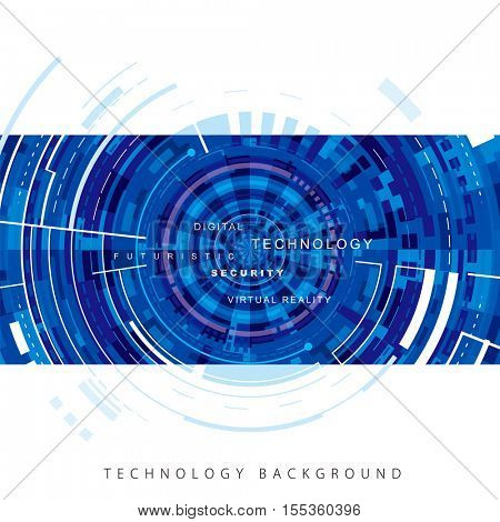 Technology abstract blue digital background.