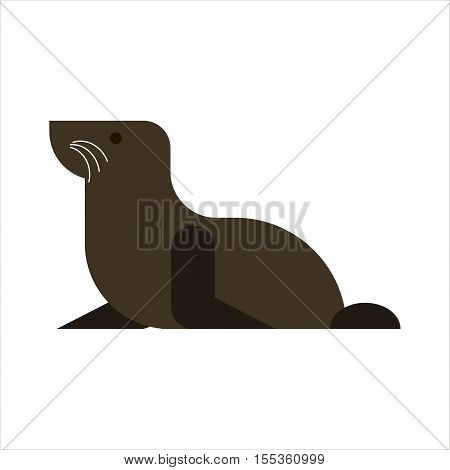 Fur seal isolated on white background. Sea lion icon - vector illustration