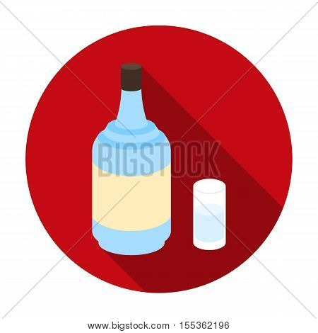 Gin icon in flat style isolated on white background. Alcohol symbol vector illustration.
