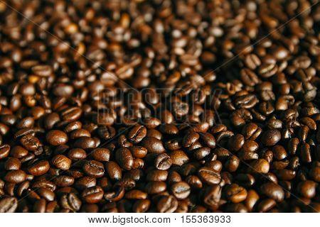 The Arabica beans background on full screen