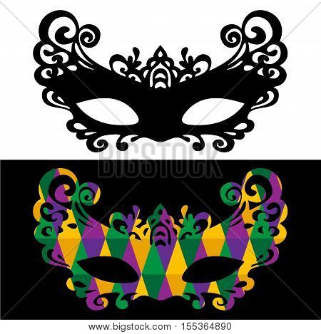 Venetian carnival mardi gras party . Vector Design with carnival symbol