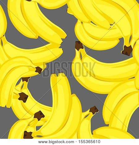 seamless background with ripe bananas