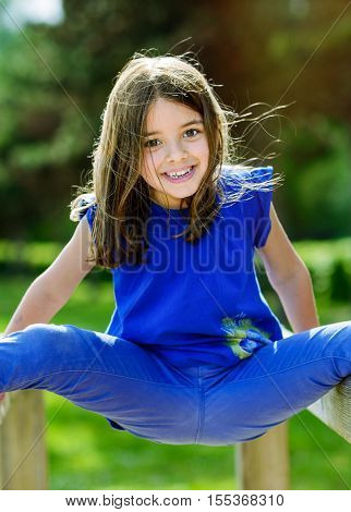 Beautiful Portrait Of Cute Child Playing