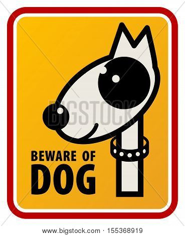 Beware of dog sign or symbol, vector illustration