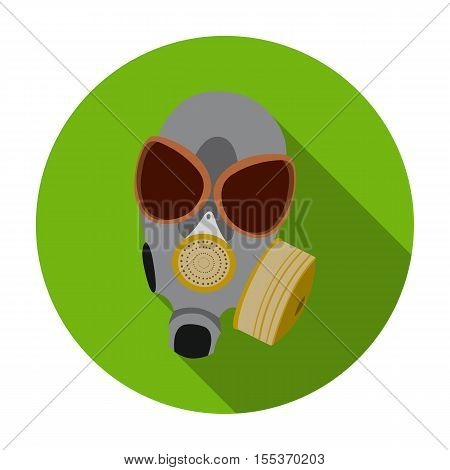 Gas mask icon in flat style isolated on white background. Weapon symbol vector illustration.