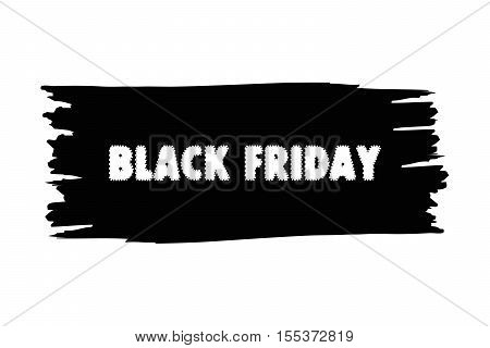 Design template with text Black Friday. Black Friday banner. Black Friday on grunge background.