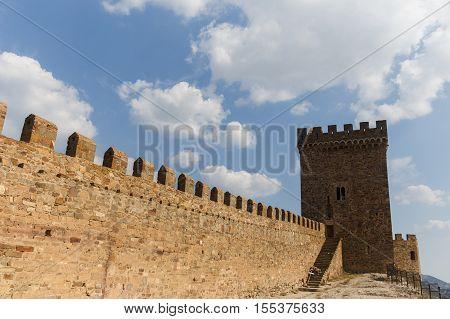 Russia. Crimea. Sudak. Genoese fortress, consular tower, . 14.09.2016