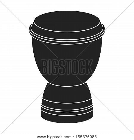 Goblet drum icon in black style isolated on white background. Turkey symbol vector illustration.