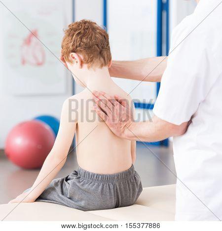 Physiotherapist Repairing Bad Posture Habits