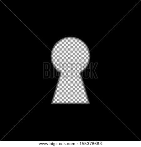 Keyhole overlay on the transparent background. Vector, isolated, eps 10