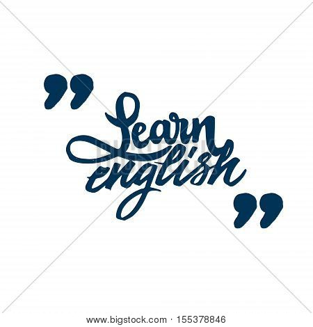 Learn Engish. Font drawn on the basis of handwriting calligraphy, modern cursive script brush.