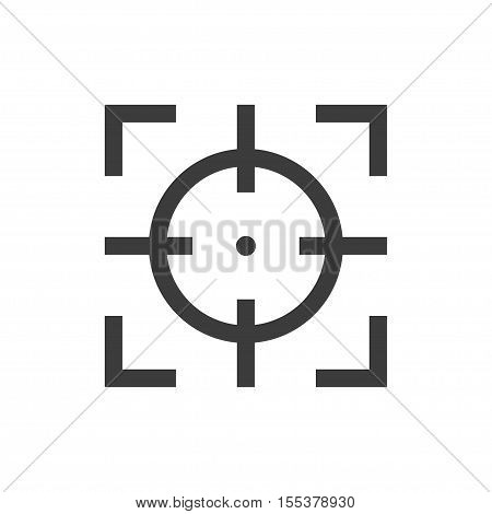 Focus Sight Icon Gray On A White Background