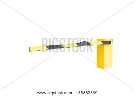 Automatic Barrier On A White Background