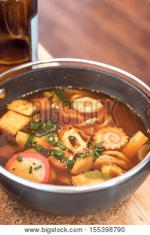 Spicy Japanese Cuisine Miso Soup Udon