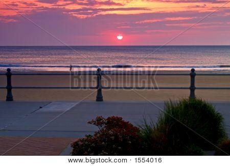 The Sunrise At The Virginia Beach, Usa