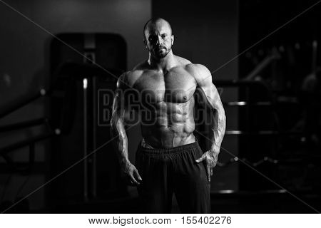 Portrait Of A Physically Fit Muscular Man