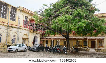 Vehicles Parking On Street In Jaipur, India