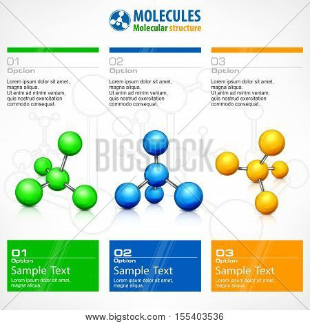 Medical science poster. Molecular background and text for business teamwork concept vector illustrations