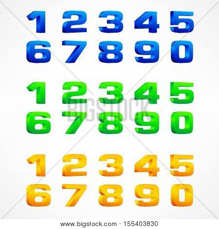 Color Alphabet Isometric Numbers