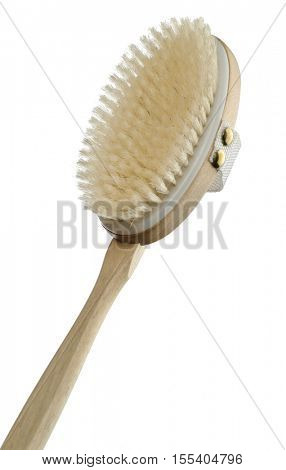 wooden brush for personal hygiene, isolated