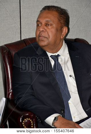 New York United States. September 19th 2016 - Mangala Pinsiri Samaraweera Sri Lankan Minister of Foreign Affairs