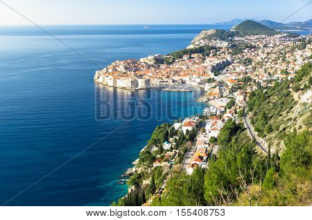 Beautiful view of the old city of Dubrovnik