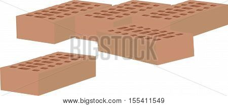 some bricks in terracotta some double terracotta bricks in one for the building