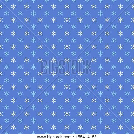 Vector Background with Small Snowflakes. Seamless Pattern for Winter Design.