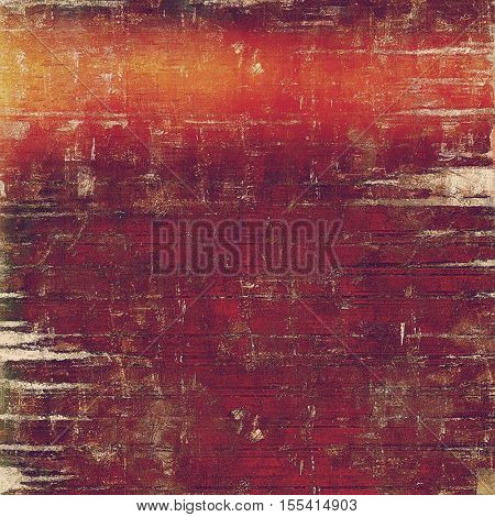 Highly detailed scratched texture, aged grungy background. Vintage style composition with different color patterns: yellow (beige); brown; gray; red (orange); purple (violet); pink