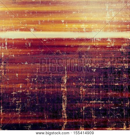 Old school aged texture or background for retro grunge design. With different color patterns: yellow (beige); brown; red (orange); purple (violet); white; pink