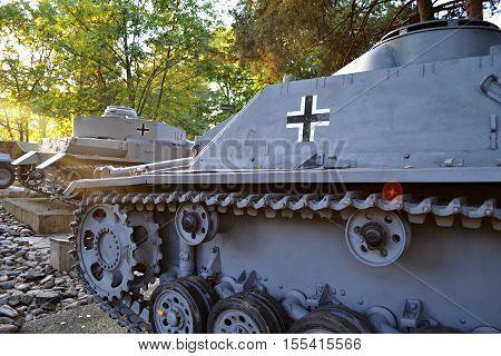 panzer/Slovakia Banska Bystrica 28 september 2014 Military sentimentu Memorial of World War 2