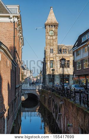 Utrecht Netherlands - October 23 2016: The Ottone church along the Kromme Nieuwegracht in the historic center of the city of Utrecht