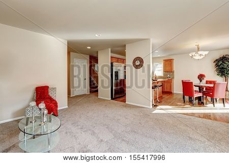Typical American Open Floor Plan Interior Design