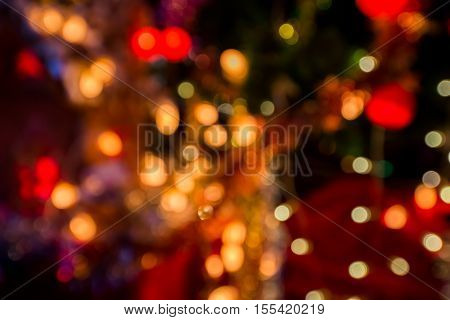 Abstract circular bokeh background of party light