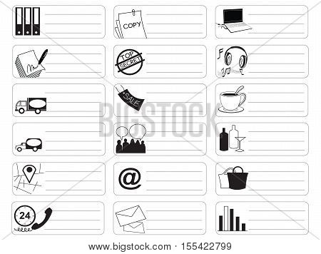 Travel shopping Icon symbol market sale item business industry sticker item print for short note and clipping path.