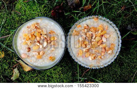 picture of a Turkish traditional dessert ashure (Noah's Pudding)