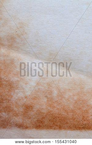 Vintage paper blank manuscript. empty page macro vertical